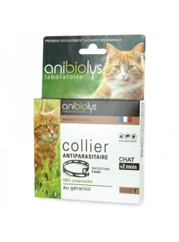 Collier anti parasitaire chat anibiolys